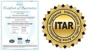ITAR Registration AS9100 rev. D Certification